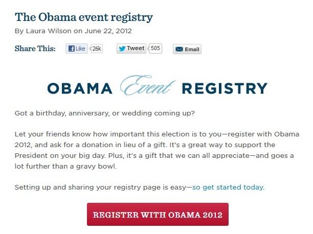 Barack Obama event registry
