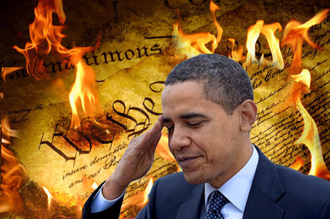 Obama burning Constitution gun control