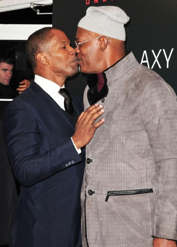 Samuel L Jackson and Jamie Foxx - Gay